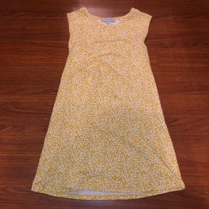 Loft Yellow Floral Dress